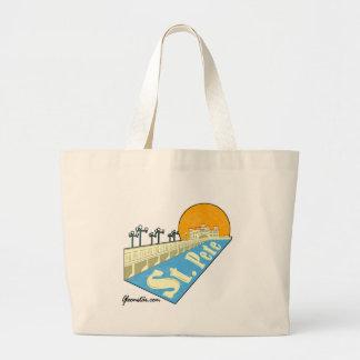 St. Petersburg Florida Large Tote Bag