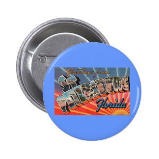 St. Petersburg Florida Pinback Button