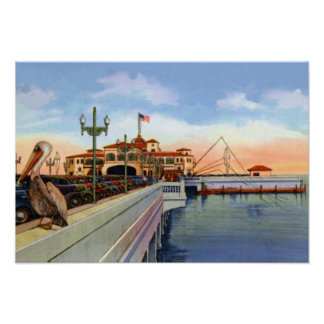 St. Petersburg Florida Recreation Pier Poster