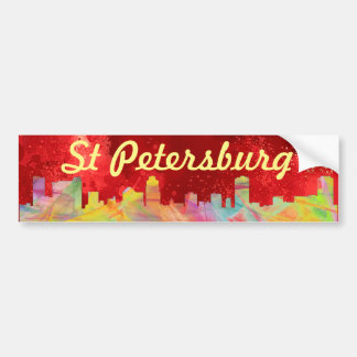 ST PETERSBURG FLORIDA SKYLINE WB1 - BUMPER STICKER