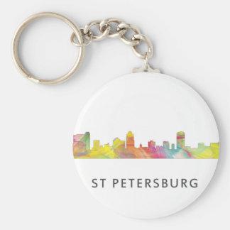 ST PETERSBURG FLORIDA SKYLINE WB1 - KEYCHAIN