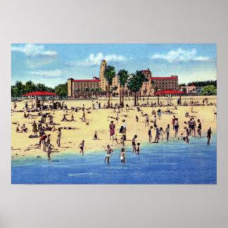 St. Petersburg Florida Vinoy Park Hotel Beach Poster