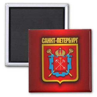 St Petersburg Gold 2 Inch Square Magnet