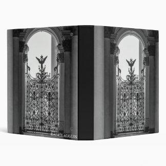 St. Petersburg Hermitage Gate Black & White Binder