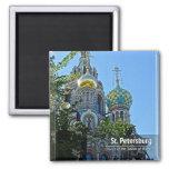 St Petersburg, iglesia del salvador en sangre Imán Cuadrado