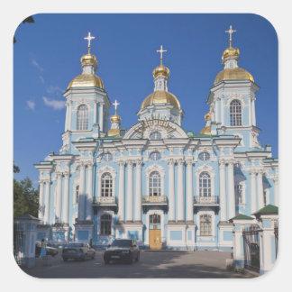 St Petersburg, Mariinsky, catedral de Nikolsky Pegatina Cuadrada