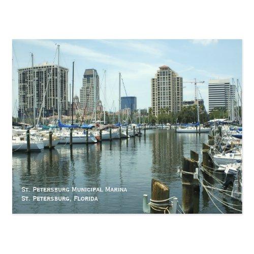 St Petersburg Marina Postcard