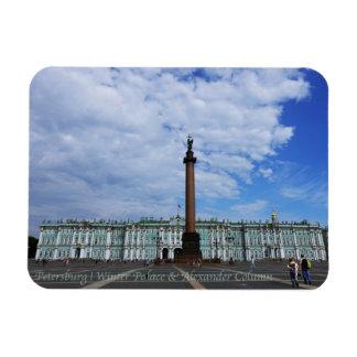 St Petersburg, palacio del invierno y columna de Iman De Vinilo