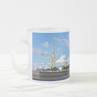 St. Petersburg, Peter and Paul Fortress Frosted Glass Coffee Mug