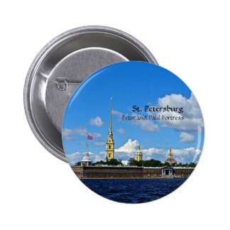 St. Petersburg, Peter and Paul Fortress Pinback Button