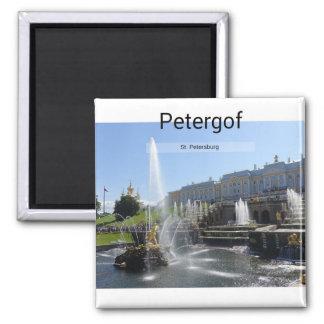 St. Petersburg, Petergof 2 Inch Square Magnet