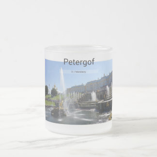 St. Petersburg, Petergof Frosted Glass Coffee Mug