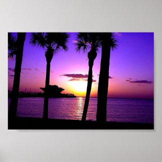 St Petersburg Pier - Sunset Poster