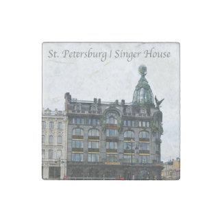 St. Petersburg, Singer House Stone Magnet