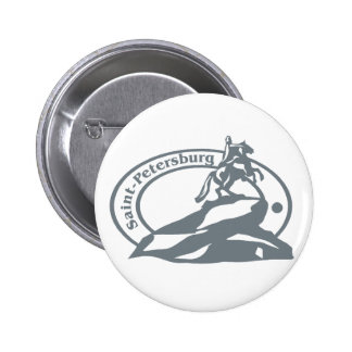 St Petersburg Stamp Pinback Buttons
