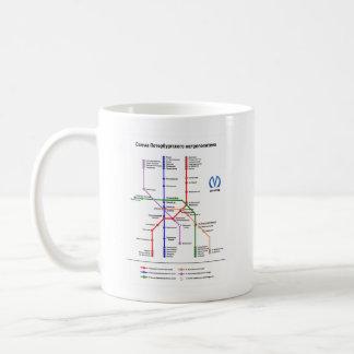St Petersburg Subway Classic White Coffee Mug