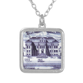 St. Petersburg. View of the Winter Palace of Peter Square Pendant Necklace