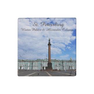 St. Petersburg, Winter Palace & Alexander Column Stone Magnet