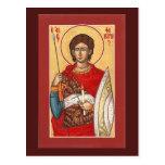 St. Phanourios Prayer Card Postcard