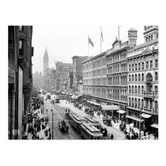 St. Philadelphia Pa.Postcard de 1904 mercados Tarjetas Postales