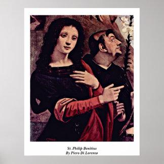 St Philip Benitius de Piero Di Lorenzo Poster