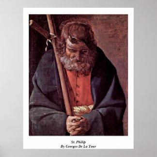 St Philip de Georges de La Tour Posters