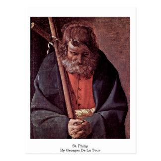 St Philip de Georges de La Tour Tarjeta Postal
