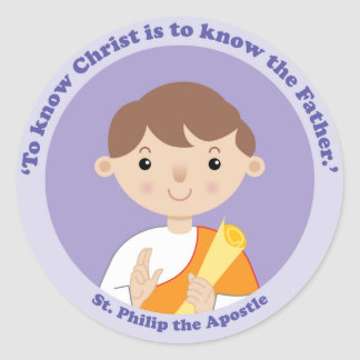 St Philip el apóstol Pegatina Redonda
