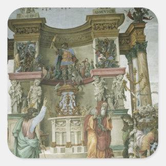 St Philip Exorcising un demonio, c.1497-1500 Pegatina Cuadrada