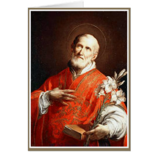 St. Philip Neri Lily Bible Card