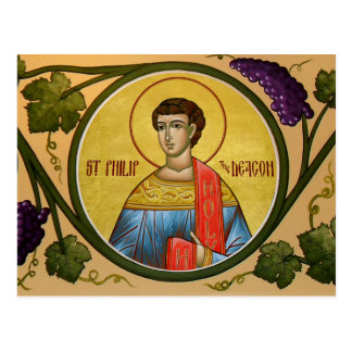 St. Philip the Deacon Prayer Card Postcard