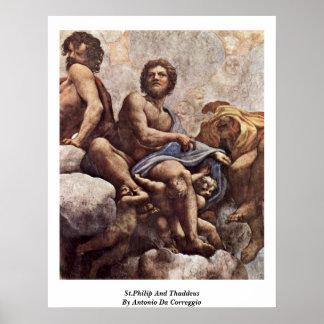 St Philip y Thaddeus de Antonio DA Correggio Impresiones