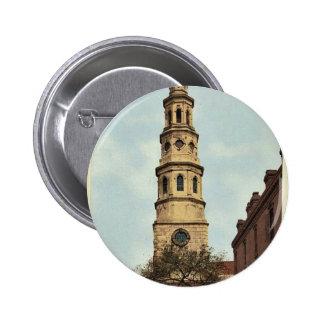 St. Philip's Church, Charleston, S.C. classic Phot 2 Inch Round Button