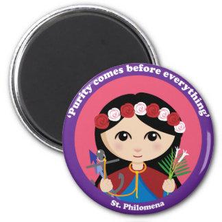St. Philomena Imán Redondo 5 Cm