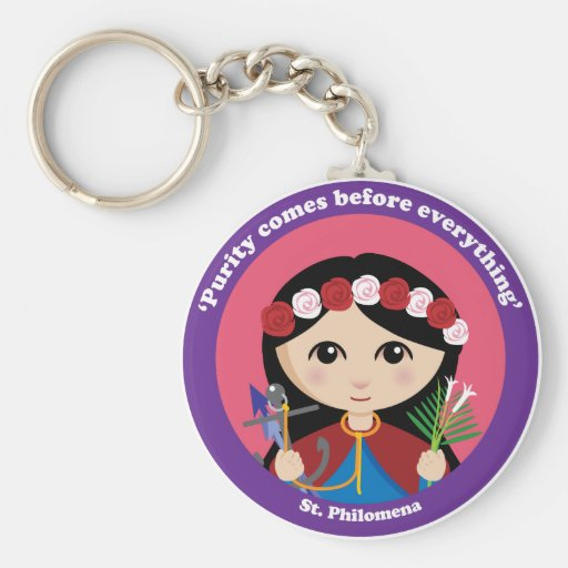 St. Philomena Llavero Redondo Tipo Pin