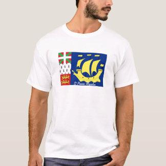 St Pierre and Miquelon flag souvenir tshirt