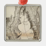 St Pierre Plateau Atlas Map Christmas Ornaments