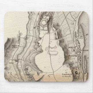 St Pierre Plateau Atlas Map Mouse Pad