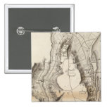 St Pierre Plateau Atlas Map Pinback Buttons