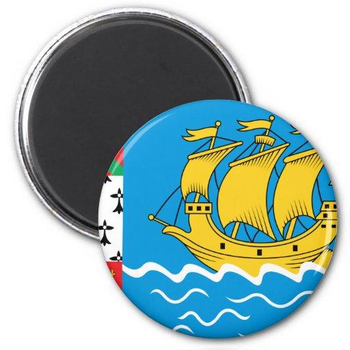 St Pierre y bandera de Miquelon Imán