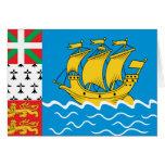St Pierre y bandera de Miquelon Tarjetas