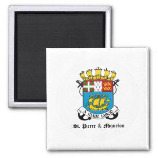 St Pierre y detalle del escudo de armas de Miquelo Iman Para Frigorífico