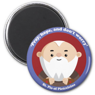 St Pio of Pietrelcina 2 Inch Round Magnet