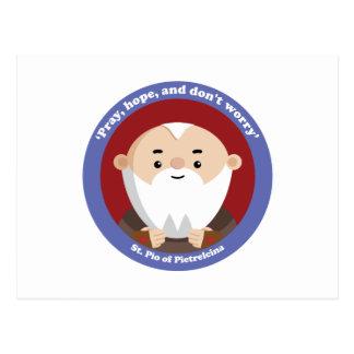 St Pio of Pietrelcina Postcard