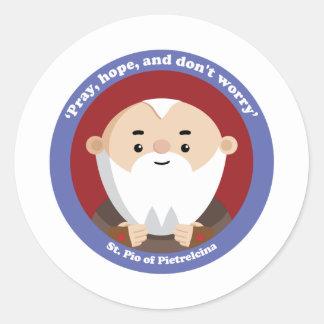 St Pio of Pietrelcina Stickers