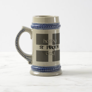 St Piran's Day with Cornish Flag Beer Stein
