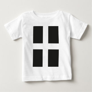 St Piran's Flag Cornwall Kernow Baby T-Shirt