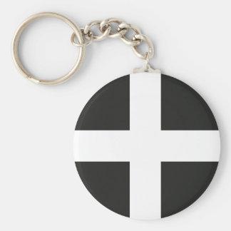 St Piran's Flag Cornwall Kernow Keychain