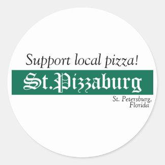 St. Pizzaburg Native Sticker