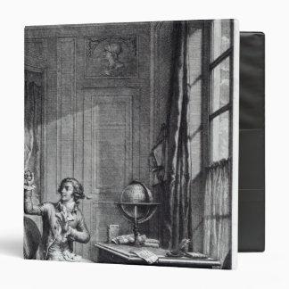 """St. Preux que recibe el retrato de Julia, Carpeta 1 1/2"""""""